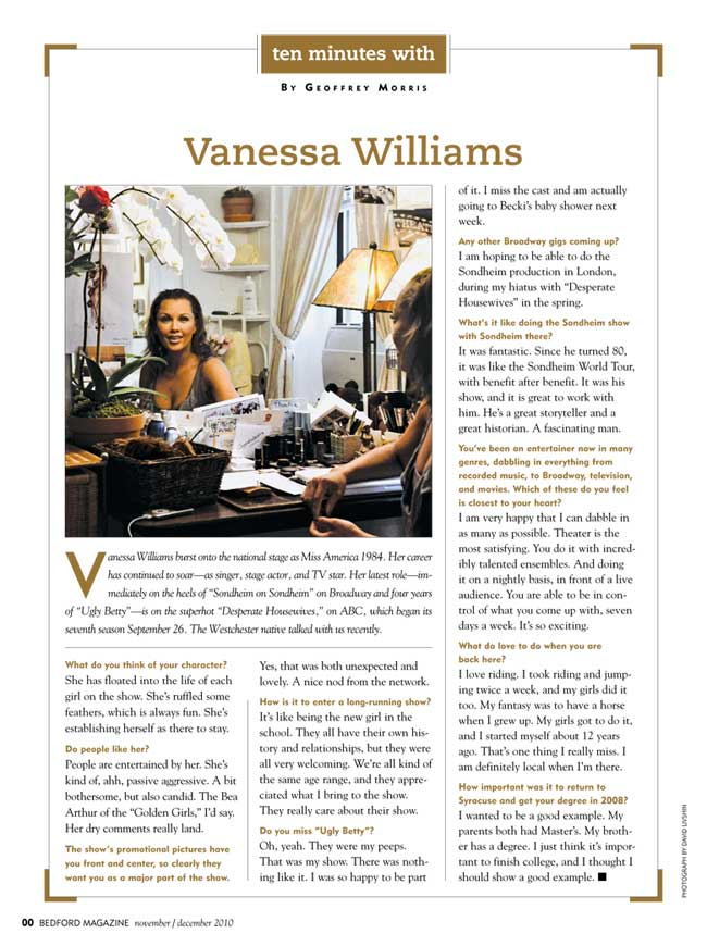 Vanessa Williams Hudson Valley Magazine